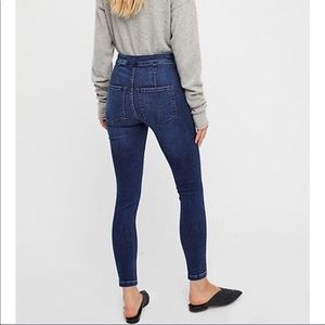 Free People lace up fly high Rise Skinny jeans